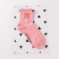 S44 Skate Vans kaos kaki impor Sock Pink Panther - Pink White