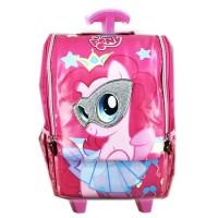 Tas Troley Sekolah Anak TK Pony Pinkie Full Motif Jepang