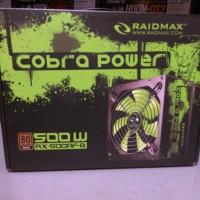 RAIDMAX Cobra RX 500AF-B 500W 80 PLUS BRONZE Certified Power Supply