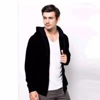 VM Jaket Zipper Korean Hoodie - Black Outdoor Jacket Ariel
