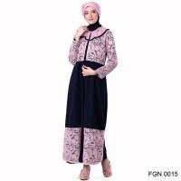 FGN 0015 | Baju Gamis Wanita Muslim branded Garsel Fashion 2018