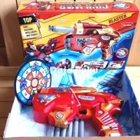 Mainan Pistol Tembakan Soft Bullet Gun Iron Man