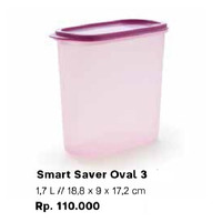Tupperware Smart Saver Oval 3 Modular Mates Wadah Tempat Bumbu Toples