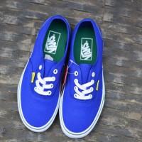 Sepatu Fashion Keren BNIB Vans Authentic Blue Biru Soltice Original