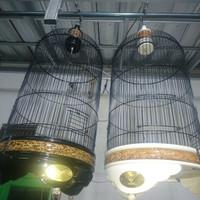 kandang burung radja original edisi marmer warna hitam dan putih