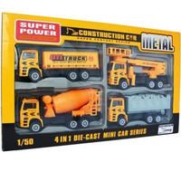 mainan mobil diecast konstruksi alat berat truk truck metal