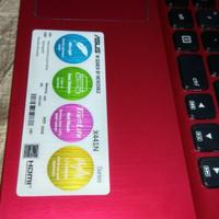 Laptop asus X441N 99,99% Ram 4 gb/500 gb Merah maroon