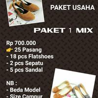 Paket Usaha Waralaba Sepatu Sandal Flatshoes Murah