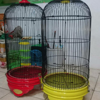 kandang burung radja original warna merah ferarri dan kuning