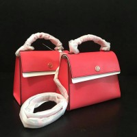tas tory burch original/tory burch parker Small satchel red ginger