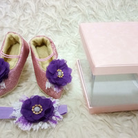 Jual Baby High heels Sha-7u /Sepatu High heels bayi Sha-7u set Bandana Murah