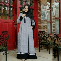 Gamis katun / Dress hijab murah / free pashmina sifon : Squeri Maxi