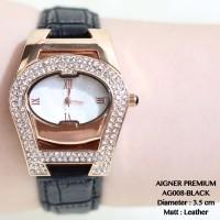 Jual Jam tangan wanita aigner baridona tali kulit grosir rolex/fossil/guess Murah