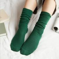 S47 Long Retro vintage Tumblr sock kaos kaki impor - Green