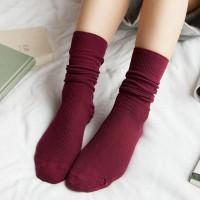 S47 Long Retro vintage Tumblr sock kaos kaki impor - Red
