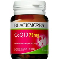 Blackmores COQ10 75mg BPOM Kalbe 30's - Coenzyme Q10, CO Q10, Jantung