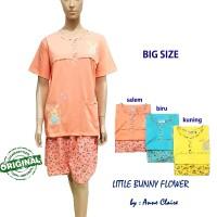 LITTLE BUNNY FLOWER Setelan Big Size / Piyama / baju tidur Anne Claire