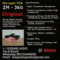 Mic Jepit Toa, Microphone Toa ZM-360