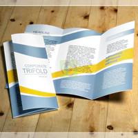 B25 Cetak Brosur A4 1 muka Art Paper 120 gram