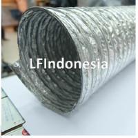 """Aluminium Selang Flexible Ducting Exhaust Fan 4"""" (10 cm) - pjg 10 m"""