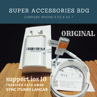 CHARGER/ ADAPTER/ KABEL DATA IPHONE 5/ 5S/ 6/ 7 IPOD ORIGINAL