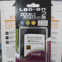 Baterai Samsung Mega 5.8 Grand 2 S4 LOG-ON Double Power 58 Batre 5,8