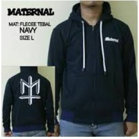 Jaket Distro Pria Maternal Simple Navy/ Sweater Hoodie Fashion Casual