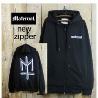Jaket Distro Pria Maternal Simple Black/ Sweater Zipper Hoodie Hitam