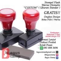 Stempel Warna Otomatis Flash Custom ( Ukuran Standar )