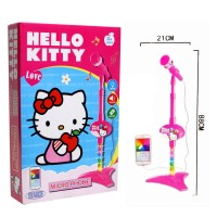 Mainan Anak - Microphone Hello Kitty Single Mic Karaoke Nyanyi Sing