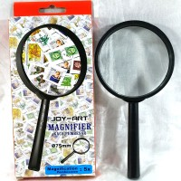 kaca pembesar lup magnifying glass 75mm joy art 7,5 cm suryakanta lens