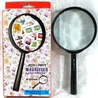 kaca pembesar lup magnifying glass 100mm joy art 10 cm hand lens kanta