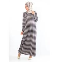 Baju Muslim Wanita Terbaru Gamis Maxi Salur Besar SImpel Elegan