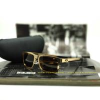 kacamata Oakley Holbrook Metal alloy Gold Original Polarized