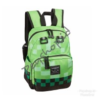 Minecraft Creeper School Backpack - Tas Sekolah Creeper Import