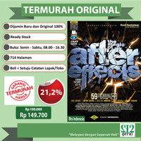 TERMURAH ORIGINAL BUKU THE MAGIC OF ADOBE AFTER EFFECT+DVD