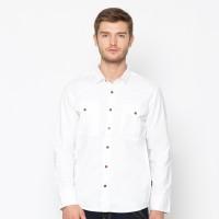 EMBA JEANS-Murdho Shirt Kemeja Pria Lengan Panjang Warna Putih