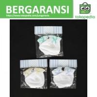 MIYO 3 Set Sarung Tangan & Kaos Kaki Karet Bayi/Baby Putih (0-3M)