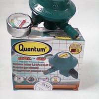 Regulator kompor gas + meter merk quantum QRL-03