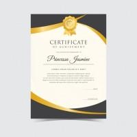 Cetak Sertifikat Piagam Karton Linen 250 gram