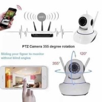 Wireless CCTV IP Camera WiFi P2P HD 720p Memory Card / Kamera Pengawas