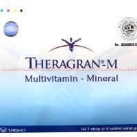 Theragran-M Multivitamin Untuk Daya Tahan Tubuh Vitamin Isi 4 Tablet