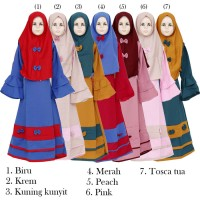 BMC-1593 Baju Gamis Anak Syari Hijab Syari cardi