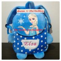 Tas Frozen TD 30cm Tas Anak Cewek Karakter Frozen Elsa Backpack Import