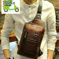 Jual tas selempang pria import tas kulit pria slempang sling bag original  Murah 0444de3f2a