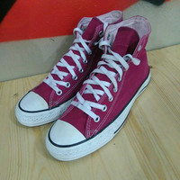 Sepatu Converse CT Hi Canvas Maroon Second Original