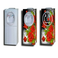 stiker dispenser besar motif bunga