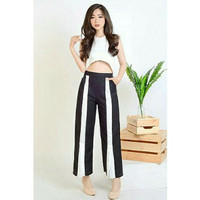 Pants TK Adinda Pants 803 Black / Celana Panjang / Slit / List