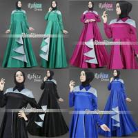 Jual gamis maxi pesta baju hijab muslim dress longdress mewah glamor baru Murah