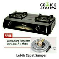 RINNAI Kompor Gas 2 Tungku RI-302S + Selang Paket Winn Gas